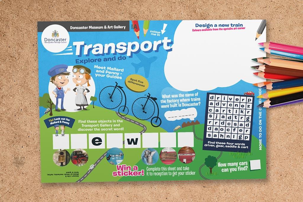 Transport activity sheet for kids