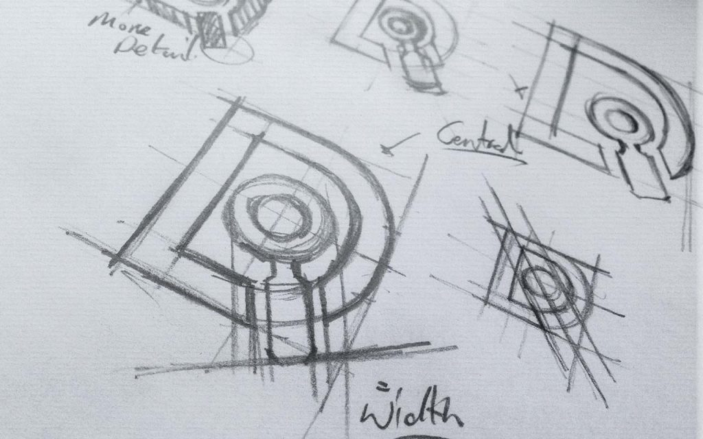 Sketches for branding project
