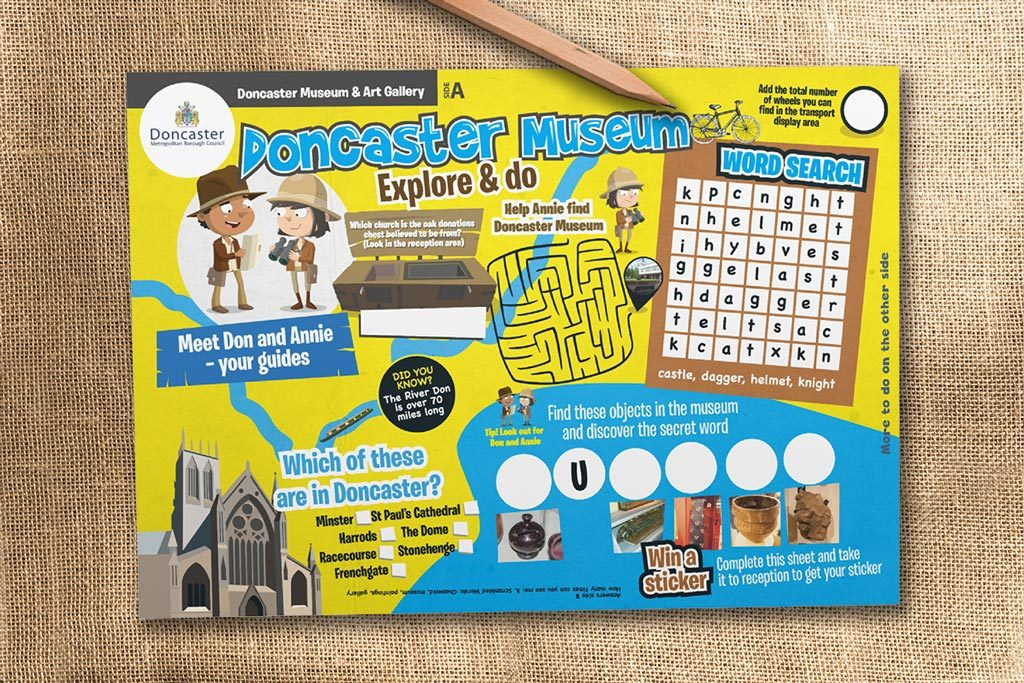 Museum activity sheet for children